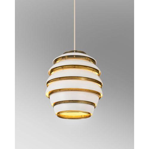 Alvar Aalto (1898 1976)  Pré modèle n°A32 dit 'Beehive'  Suspension  Métal laqué…