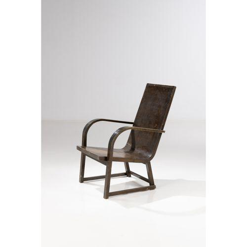 Werner West (1890 1959)  Modèle n°8506  Fauteuil  Bouleau noirci  Édition Kerava…