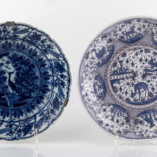 Plate manufactured inDelft Ceramic plate in Delft, with decoration in blue on w…