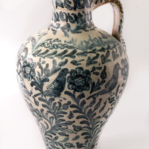 Ceramic Vase Fajalauza Old pitcher in granadine earthenware Fajalauza, C.XVIII X…