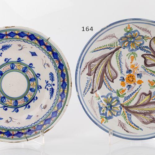 Ceramic plate Levantine ceramic plate glazed and polychrome from the C.XIX XX. F…