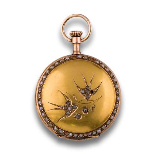 14KTS GOLD POCKET WATCH Montre de poche s. 19ème siècle, mouvement remontoir, or…