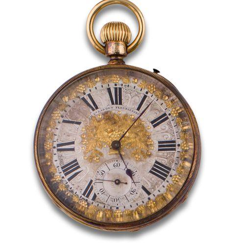Watch s. XIX gold No. 1809 Fleurier. Paris Montre de poche s. XIX, Feurire Paris…