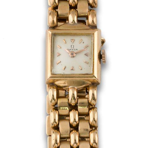 OMEGA GOLD watch Montre OMEGA, or jaune 18kt, mouvement mécanique, cadran blanc,…