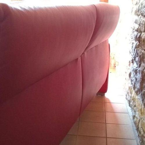 DS10/23 red leather sofa  Ed. De Sede, circa 2000  205 cm x 85 cm x 85 cm Seat h…