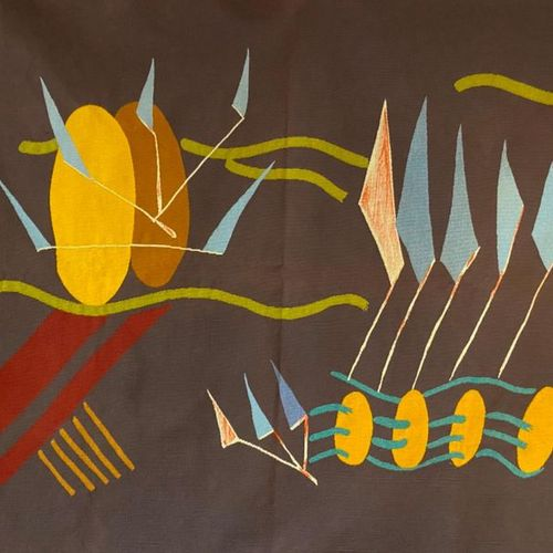 "Pierre Chigot: ""Nationale 27""  Aubusson Tapestry signed and dated  Circa 1956  1…"