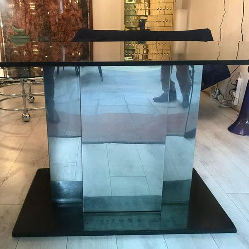 In the taste of François Monnet: Console table / middle table glass / stainless …
