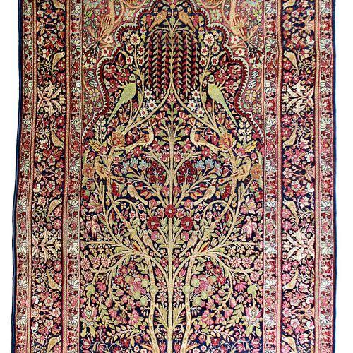 Late KIRMAN LAVER (Persia), late 19th century. Technical characteristics: Wool v…