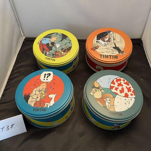 Boite de chocolat Tintin  Lot de 4 boites de chocolat Jeff De Bruge 2007 2008 lé…