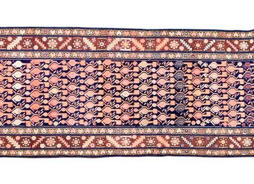 Galerie MELAYER (Perse), début du 20e siècle: Fond bleu foncé à semis de palmett…