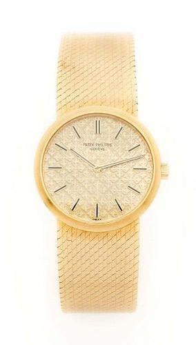 PATEK PHILIPPE Réf.4114 Vers 1970 18K gold case Mechanical hand wound movement C…