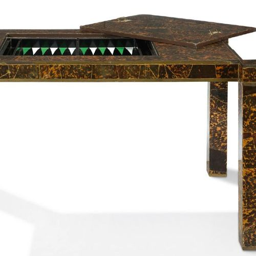 MARC DU PLANTIER (1901 1975) ~GAME TABLE GAME TABLE Wooden structure veneered wi…