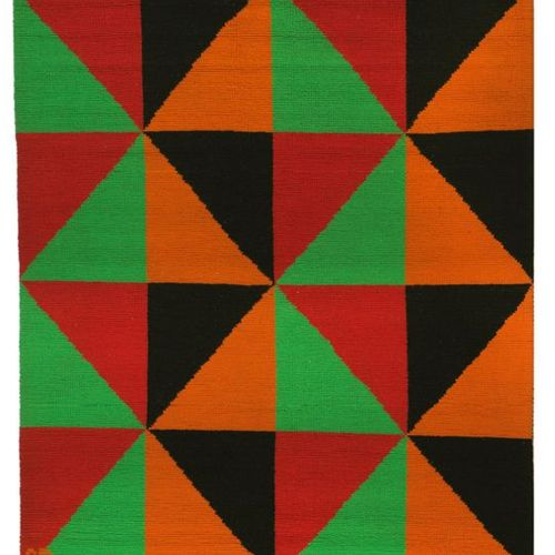 Sonia Delaunay (d'après) TZARA Tapestry in polychrome wool, with kinetic decorat…