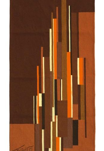"ANTOINE TRIBOULET (NÉ EN 1940) "" CURITIBA "" TAPESTRIES Smooth bass weaving, with…"