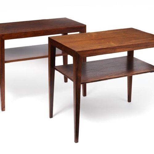 Severin HANSEN (1887 1964) TWO BUTTONS OF CANAPE In rosewood veneer, rectangular…