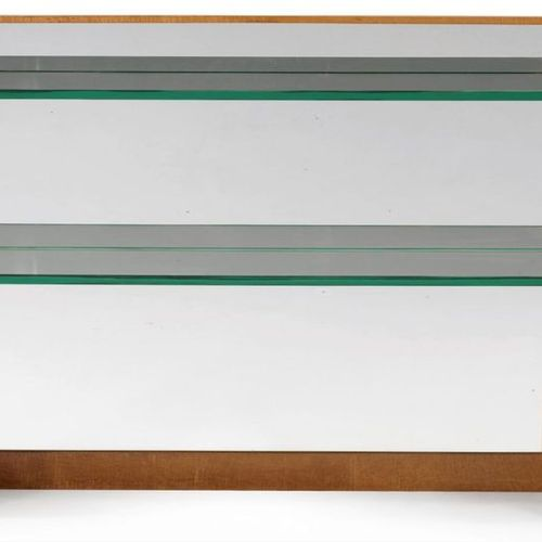 Jules LELEU (1883 1961) MODERNIST CONSOLE In varnished curved ash veneer, curved…