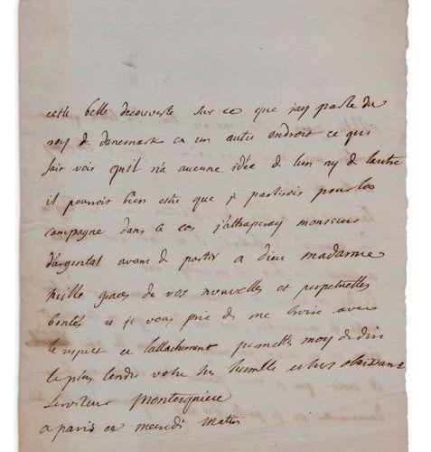 MONTESQUIEU CHARLES DE SECONDAT, BARON DE (1689 1755) L.A.S. «Montesquieu», Pari…