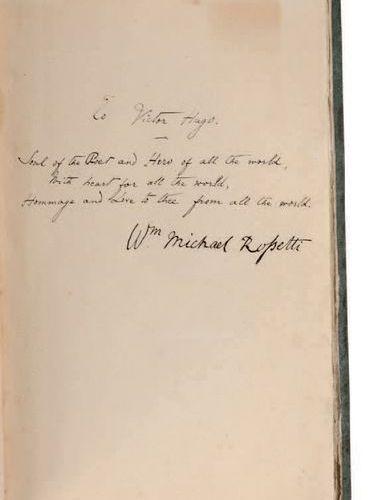DANTE GABRIEL ROSSETTI (1828 1882) Poems Londres, F. S. Ellis, 1870. In 8. Carto…