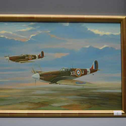 "HSP, 2 ""planes in flight"" signed C.Peper."