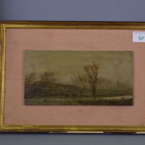HSP, lake landscape, Fritz Van de Kerkhove inscribed on the back.