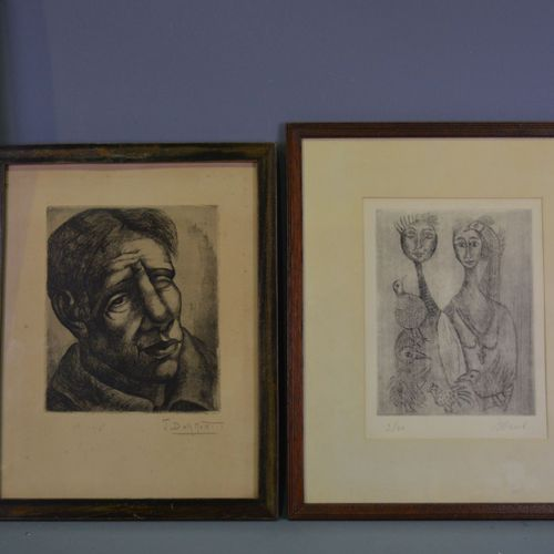 2 engravings of J.Dormont and Nael.
