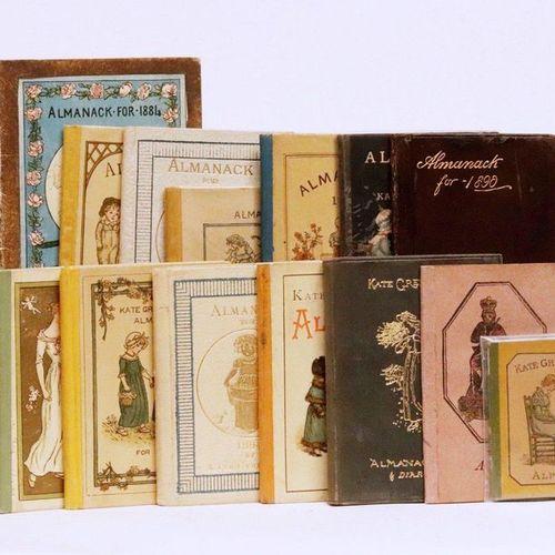 GREENAWAY (Kate). Ensemble 14 minuscules almanachs. London, George Routledge and…