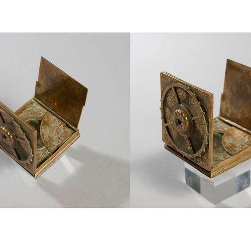 Brass sundial. In the 16th century