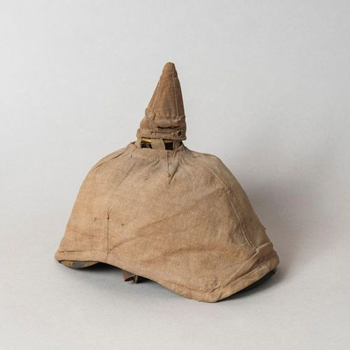 Helmet with cover for reserve troops (Prussia)  H. 24, W. 26, Pr. 17 cm