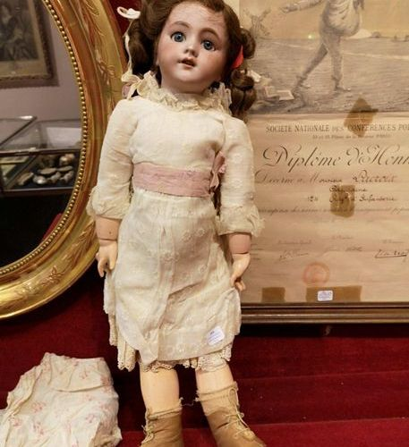 Proceslaine doll circa 1900  It comes with a dress and a blouse...
