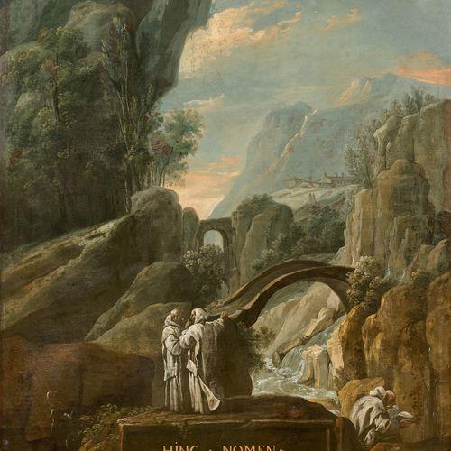 Joseph Ignace François PARROCEL  (Avignon 1704 Paris 1781)  Moines chartreux dan…