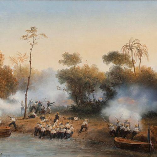Horace VERNET, 1852  Les troupes françaises en Côte d'Ivoire, le 3 mars 1849.   …