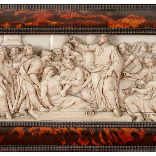 La guérison du paralytique à Bethesda  Bas relief panoramique en ivoire  Allemag…