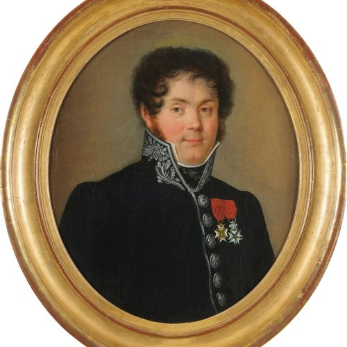 Ecole du premier tiers  du XIXeme siecle  Portrait d'un contrôleur des armées  H…