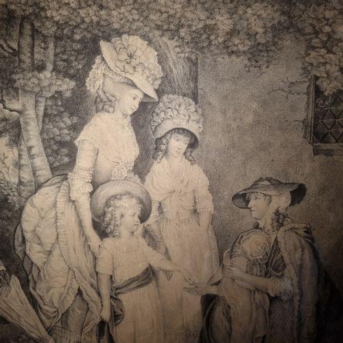 D'après l'école anglaise du XVIIIe siècle  La charité et les enfants du Roi  Fus…