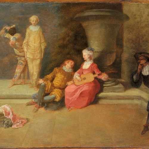 Jean Antoine WATTEAU  (Valenciennes 1684 Nogent sur Marne 1721) Pour garder l'ho…