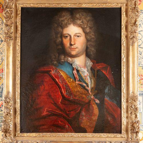 Ecole FRANCAISE du XVIIIe siècle  Homme à la perruque  Toile  72 x 58 cm  Restau…