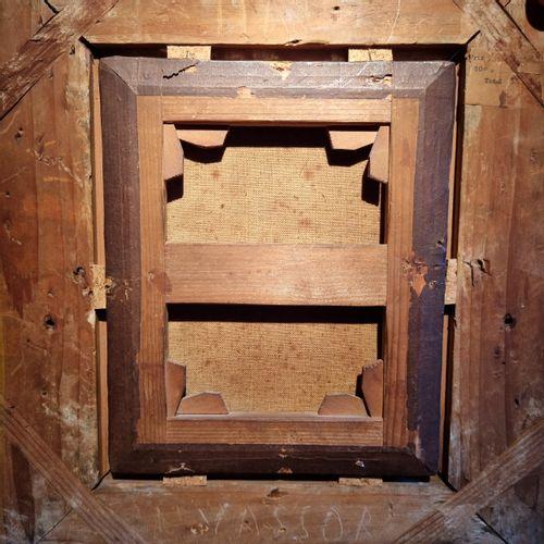 Ecole du XVIIeme siecle  Allegorie de l'architecture  Toile  20 x 15,5 cm