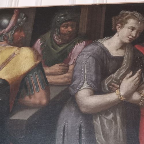 Ecole FLAMANDE du XVIe siècle,  entourage de Frans FLORIS  Scène de palais  Toil…