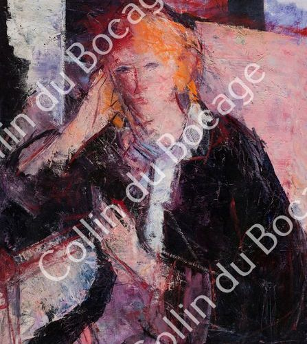 Enav Bension (1925 2007) (13) ENAV Bension (1925 2007) Stella, Huile sur toile, …