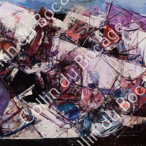Enav Bension (1925 2007) (3) ENAV Bension (1925 2007), Huile sur toile, signée e…