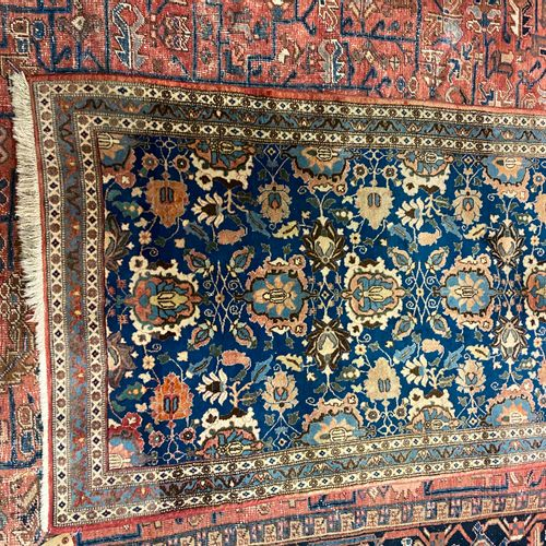 IRAN carpet with blue background 150 X 100 CM