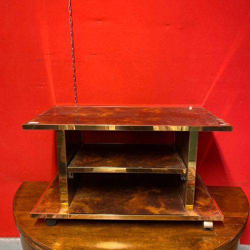 Table télévision laquée écaille  41 x 80 x 42 cm