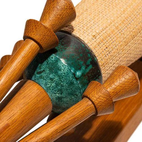 GUILLERME ET CHAMBON Guillerme et Chambon, Paire d'appliques en bois céramique e…