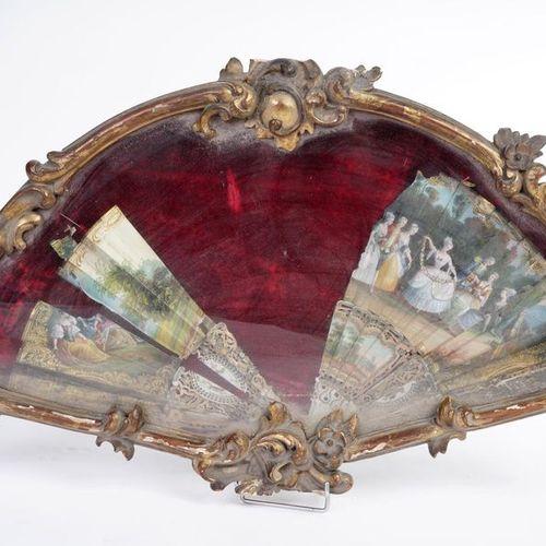 Twenty strands broken fan from the Louis XVI period with a pierced ivory frame a…