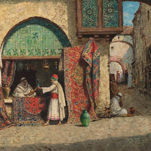 Addisson Thomas MILLAR (Bazetta 1860 South Northwall 1913) View of the Algiers B…