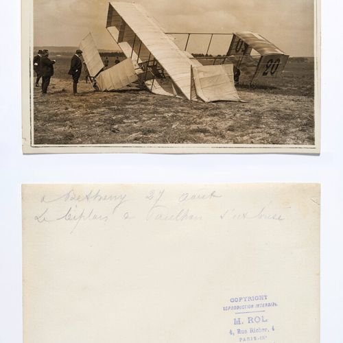 ROL Agency (act. 1904 1937)  Paulhan, his accident and the rescue  Bétheny, Avia…