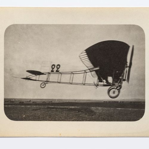 Lucien LOTH (1885 1978)  Louis Blériot, aircraft n°22 (speed effect)  Aviation w…