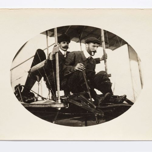 Lucien Loth (1885 1978)  Henry Farman with one, with two passengers  Aviation we…