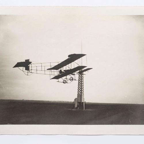 Lucien LOTH (1885 1978)  Farman biplane n°12 at the signal mast  Monoplane turni…