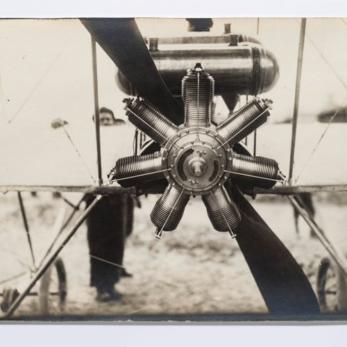 """Lucien Loth (1885 1978)  Gnome 50 horsepower rotary engine """"Omega  Aviation week…"""